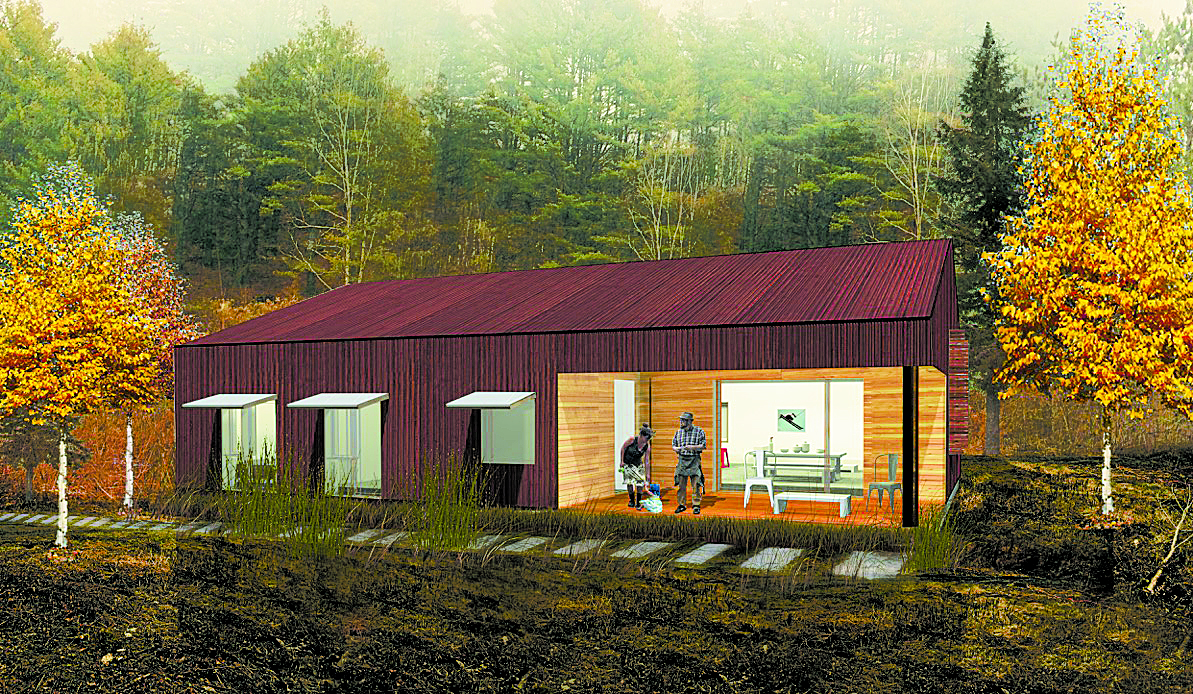 Habitat for Humanity rendering of south gable. Courtesy of Stonorov Workshop.