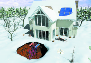 Residential geothermal example. Photo courtesy of Bosch Thermotechnology.