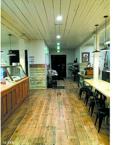 Inside the historic Vischer Ferry General Store that is now fossil fuel free and energy efficient throughout.