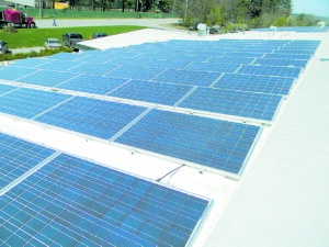 Solar panels at the A. C. Hathorne, Williston, Vermont. All photos courtesy of Melanson Company