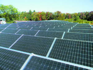 PV panels at the Melanson headquarters, Keene, NH