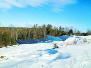 The solar array at the Thetford Elementary School Thetford, Vermont
