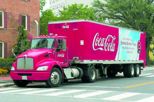 Hybrid powered Coca-Cola delivery truck in Washington, D.C. will be the type of vehicle that will come into greater use with new mandates regarding mid to large size vehicles. Photo by Mariordo (Mario Roberto Duran Ortiz) (Own work) [CC BY-SA 3.0 (http://creativecommons.org/licenses/by-sa/3.0)], via Wikimedia Commons
