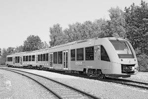 The Alston Coradia iLint has reduced train emissions to almost nothing as a light, innovative, local rail vehicle. Alston photo