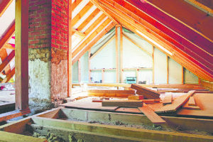 Attic heat loss can be remedied by proper sealing and then insulation. Photo: depositphotos.com