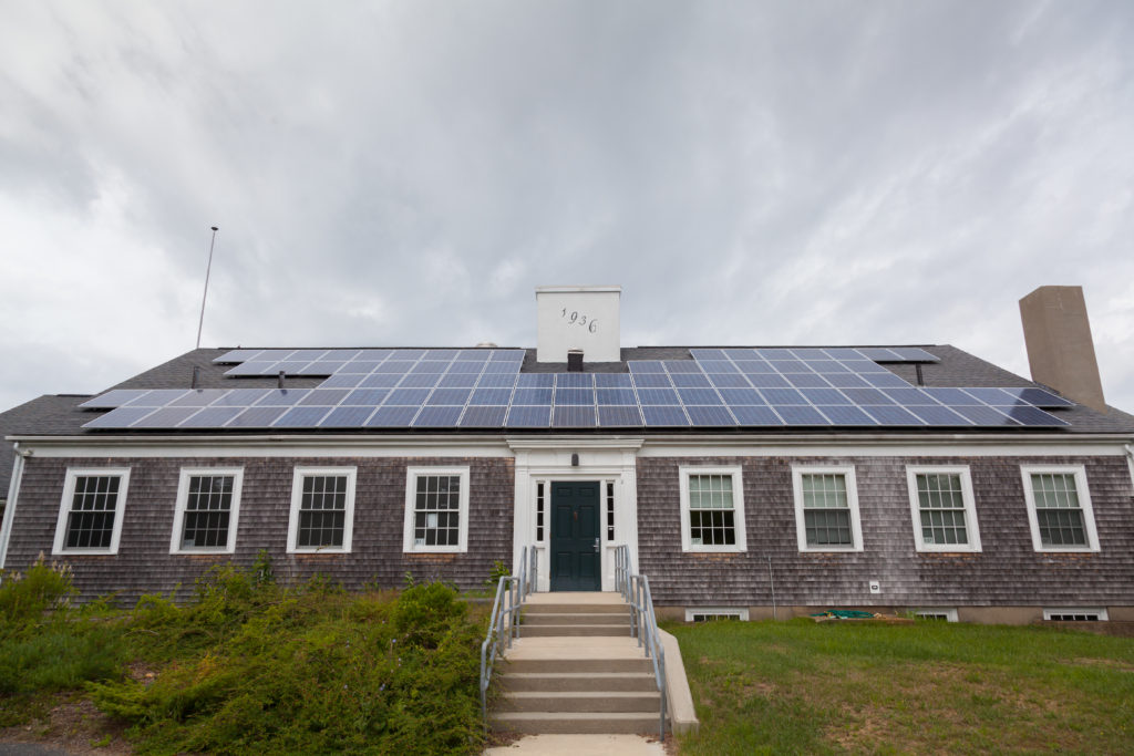 The RECs from the Eastham Elementary School's solar PV system will be used in the Compact's 100% Green Aggregation power supply program. Photo credit: Cape Cod Compact.