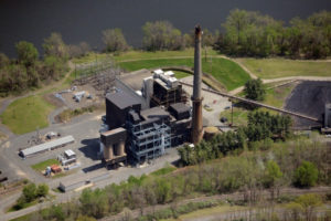 The Mount Tom Power Station on Northampton St. in Holyoke, MA. The plant ceased burning coal in Dec., 2014. Photo: MassLive. com