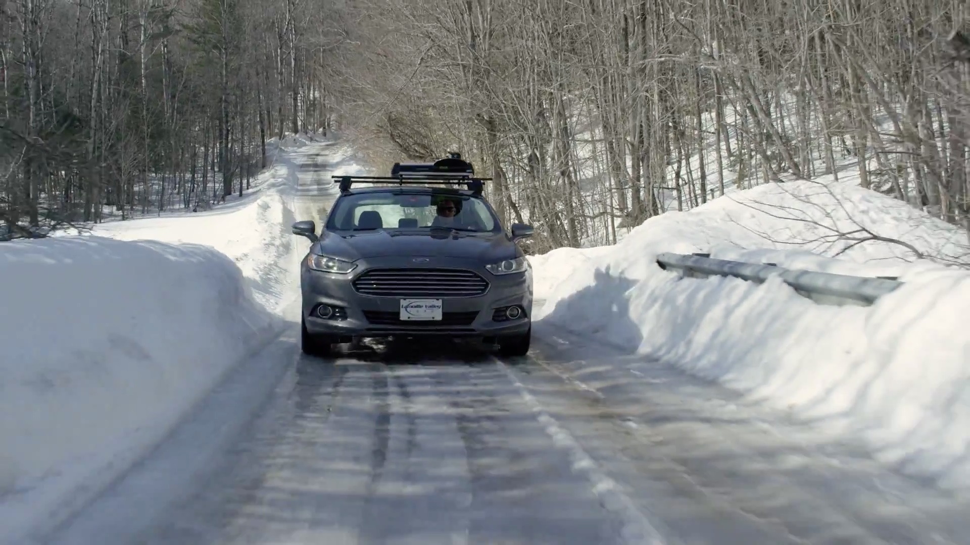 A Ford Fusion On Snowy Road All Photos Courtesy Of Dave Roberts