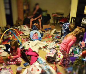 Christmas morning insanity. Photo by It's Twinsanity.