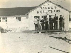 Historic photo of the original Nansen Ski Club Building. Photo courtesy of Nansen Ski Club.