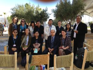 The Vermont Law School team supported the delegation from Myanmar at COP22. Photos courtesy of Trach Bach, Professor of Vermont Law School delegation to COP22.