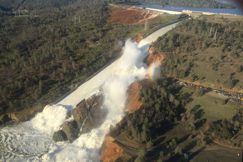 Spillway at the Oroville dam (California Department of Water Resources via Reuters)