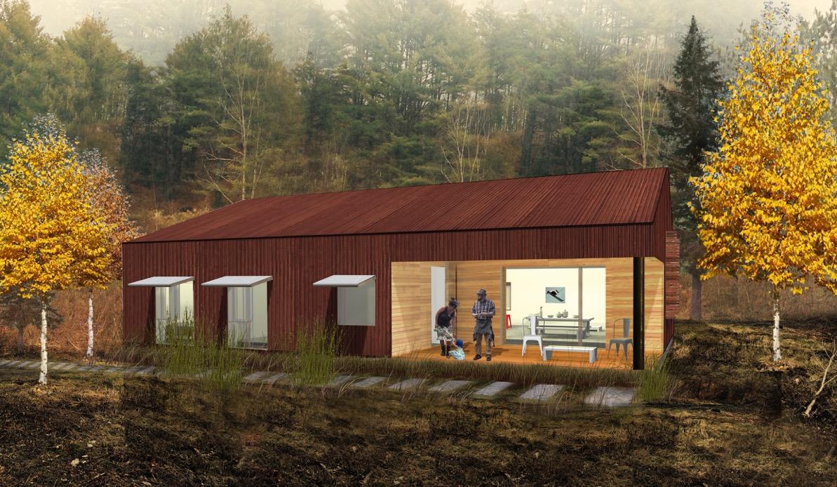 Final Rendering - Habitat South View Gable