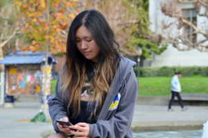 Undergraduate Tiffany Ma tried her best to avoid using plastic for 24 hours, but quickly realized it was going to be harder than she thought. (UC Berkeley photo by Anne Brice)