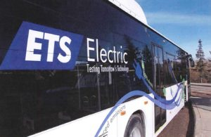 Advance Transit hopes to have their new electric bus out on Tuesday, Feb. 21st. Initially it will be working one of the hospital shuttles. Photo: Courtesy of Advance Transit
