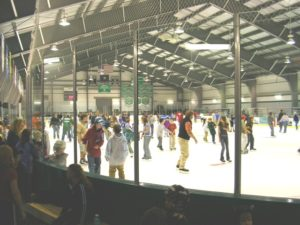 Union rink and skaters. Courtesy photos: EJay Bishop, exec. director, Union Arena Community Center