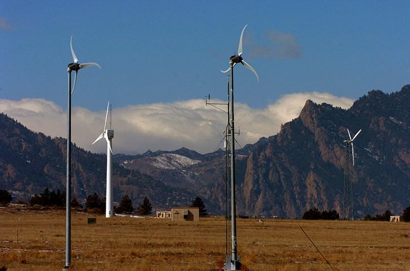 Wind turbines at NREL's National Wind Technology Center south of Boulder (Helen H Richardson, Denver Post)