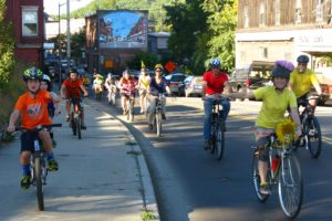 Bellows Falls Community Bike Project first anniversary celebration. Photo by Karl Kemnitzer.