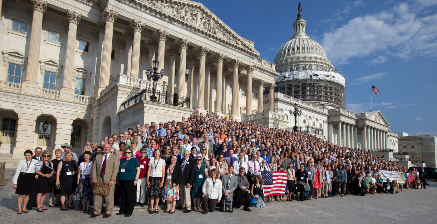 900 Citizens Climate Lobby volunteers before visiting 502 Congressional offices on June 21, 2016. Photo: Citizens Climate Lobby.