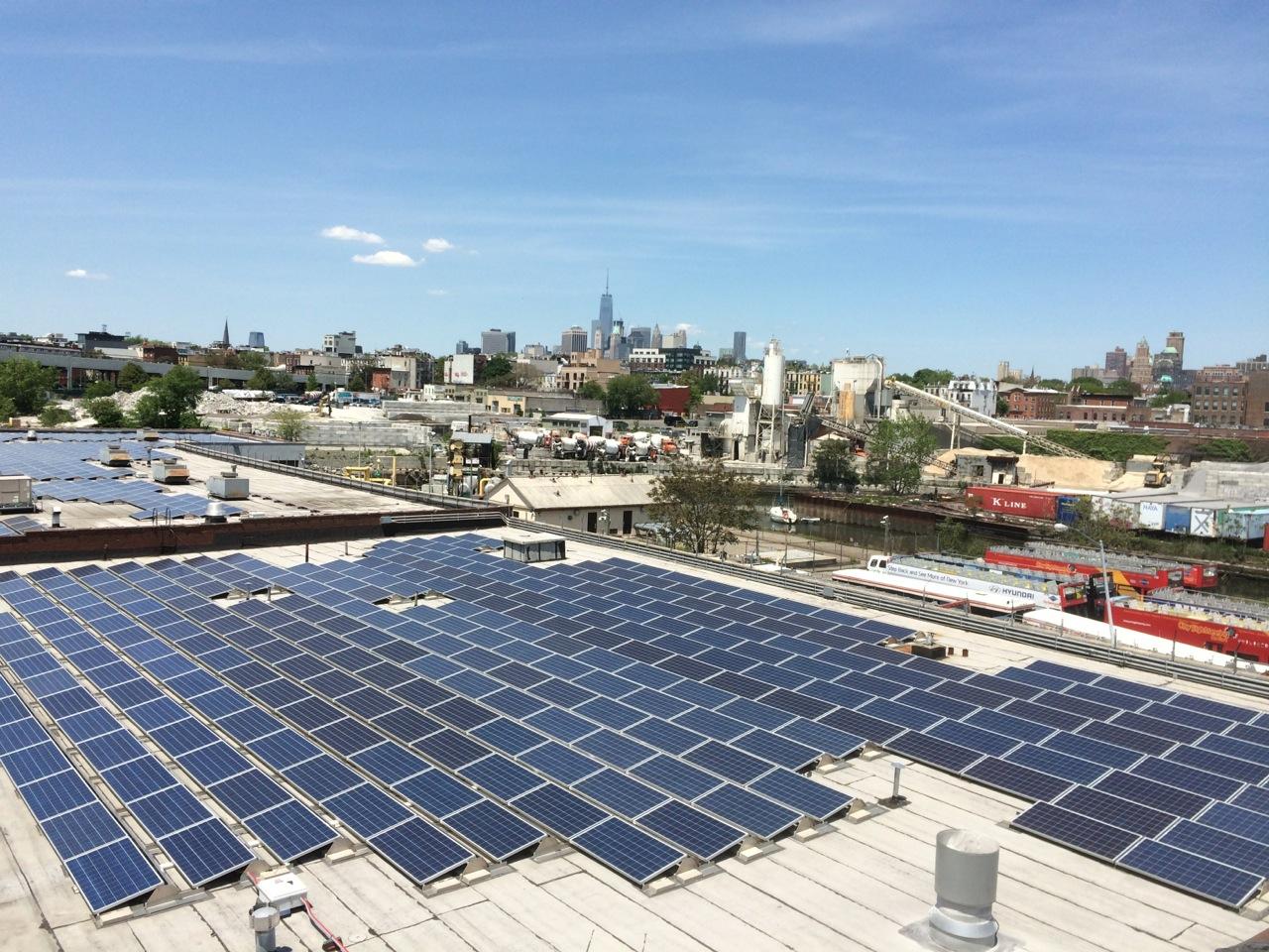 Solar panel installation in Brooklyn (LO3 image)