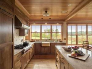The bright kitchen interior. Photos from Carolyn Bates Photography.
