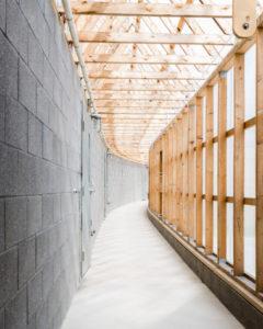 Interior view of solar corridor. All photos: Jon Moore Photography