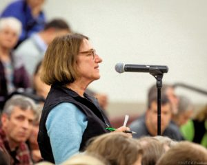 Judi Colla urges Hanover residents to support transitioning to renewable energy