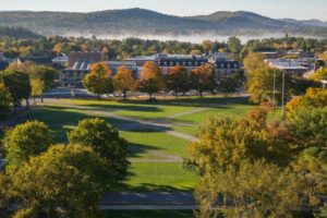 Hanover, NH ranked in the top 30 college towns of America. Dartmouth College is an integral part of the Hanover community and is also committed to the 100% renewable goal. Photo by Eli Burakian '00 - Dartmouth Direct, July 20, 2016.