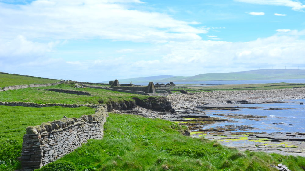 Ruins on Scotland's Rousay Island coast (Adam Markham)