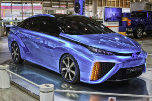 Toyota's Mirai fuel cell vehicle is already available in California, the only U.S. state with any kind of hydrogen refueling infrastructure in place. Image: RynseOut, FlickrCC