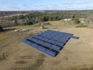 The Helderberg Solar Farm is a 200-kilowatt system, with power supplied by 600 solar panels. It was built in Johnsonville, New York, and went on line January 2017. Photos courtesy of Monolith Solar.