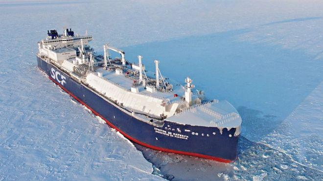 The tanker Christophe de Margerie (Sovcomflot photo)