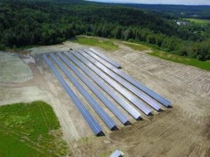500kW Williston, VT solar array installed in 2017 by Aegis Renewable Energy. Photo: Aegis Renewable Energy.