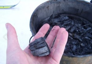 Biochar, essentially charcoal, is a soil amendment that sequesters carbon and can often eliminate any need for fertilizers. Photo: K.salo.85, Wikimedia Commons