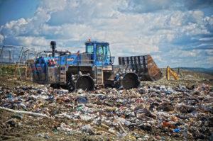 Bulldozer at Coventry landfill. Photo: Jonny Finity.