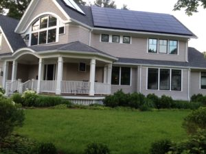 Platinum level LEED home in Newton, MA with Pearl's Premium grass. Courtesy photo.