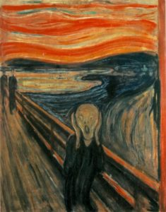 The Scream (1893, Edvard Munch).
