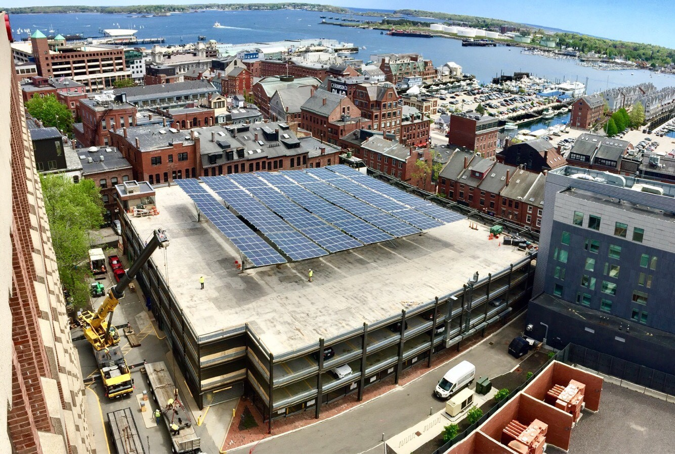 Fore Street Garage Solar Canopy & Fore Street Garage Solar Canopy « Green Energy Times