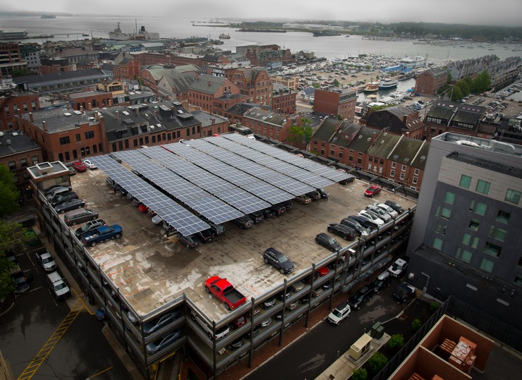 ReVision Energy collaborated on the Fore St. Garage solar array. Courtesy photos: John Capron
