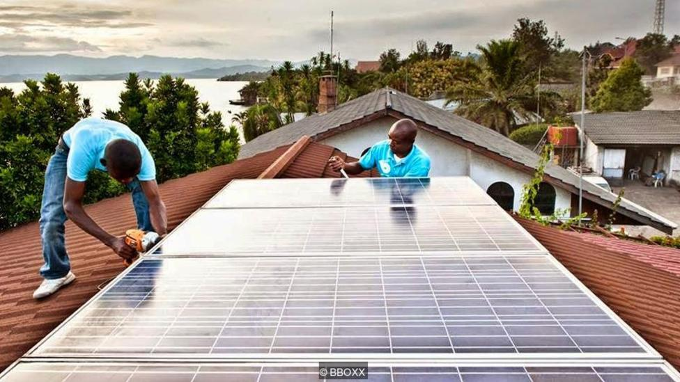 Installing a large system in Rwanda (Credit: BBOXX)