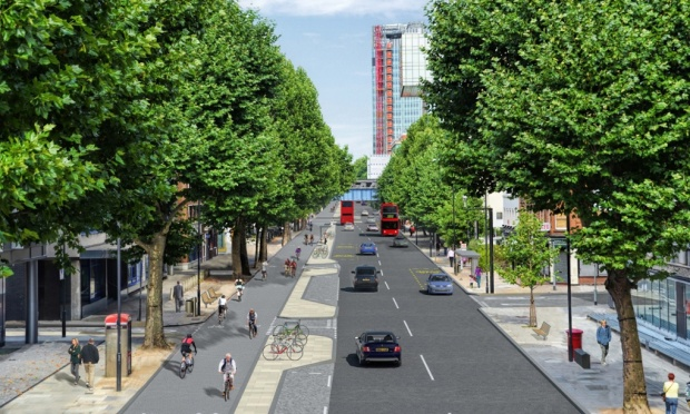 Boris Johnson's cycle superhighway in London