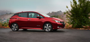 2018 Nissan LEAF – 150 miles of all-electric range. Image: Nissan USA