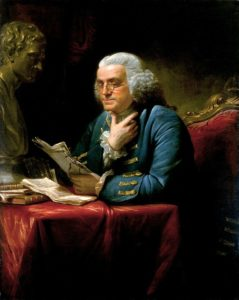 """Our new Constitution is now established, and has an appearance that promises permanency; but in this world nothing can be said to be certain, except death and taxes."" Benjamin Franklin, 1789. Portrait painted in 1767 by David Martin (1737-1797)"