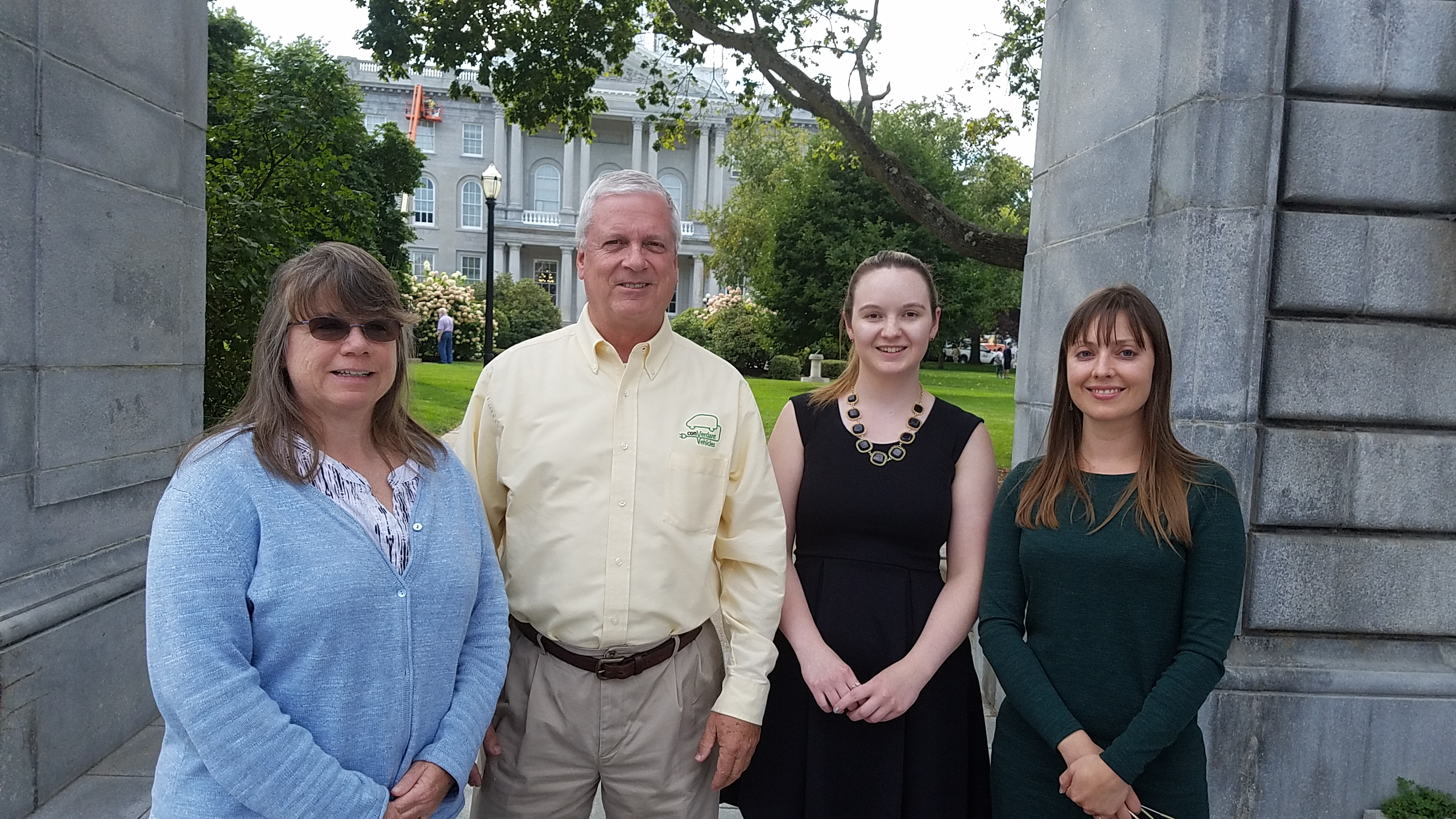 Drive Electric NH Founders: Cathy Corkery of the NH Sierra Club, Randy Bryan of ConVerdant, Brianna Brand and Kate Epsen of NHSEA. Courtesy photo.