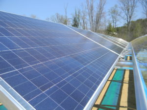 A close-up view of one of the solar arrays on Furlone's property. Courtesy photos: Craig Bell of Solar Source.