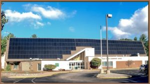 A 125kW PV rooftop solar array at the Hollis, NH Upper Elementary School. Photo courtesy KW Management.