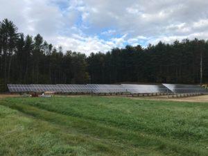 The school's solar array. Courtesy Norwich Solar Technologies.