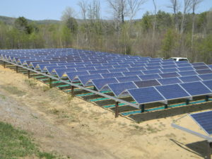 The first solar array was built on Furlone's property in spring 2015