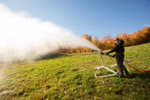 Climate change makes snowmaking imperative. Courtesy photos: Killington .