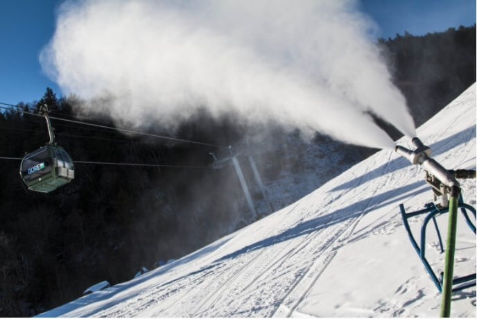 Snow making at Gore Mountain